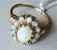 Ladies 10K Gold/Opal Ring, size 7