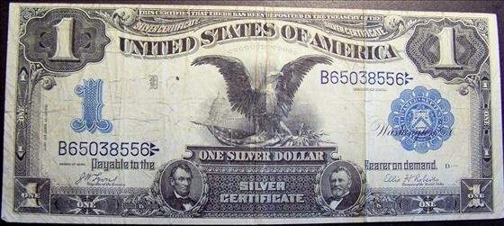 1899 Large One Dollar Silver Certificate