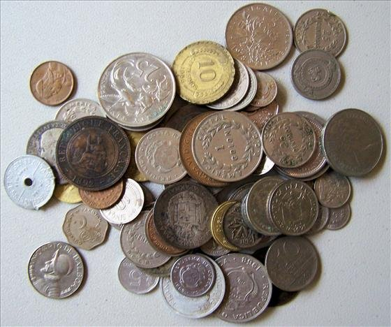 Lot  of 65 Foreign Coins