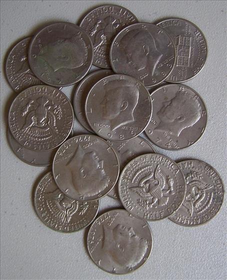 16 Kennedy Clad Half Dollars
