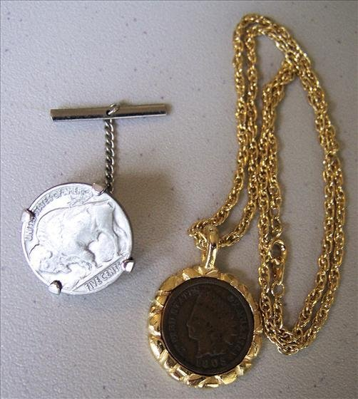 Coin Necklace and Tie Tack