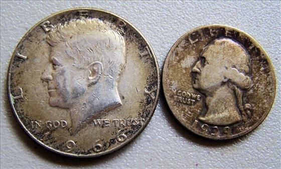 1966 Kennedy Half & 1939 Washington Quarter