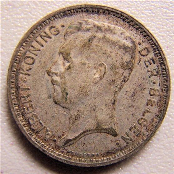 Belgium 1934 20 Francs Silver Coin