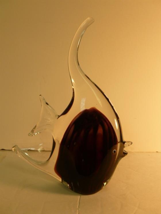 Murano glass angel fish