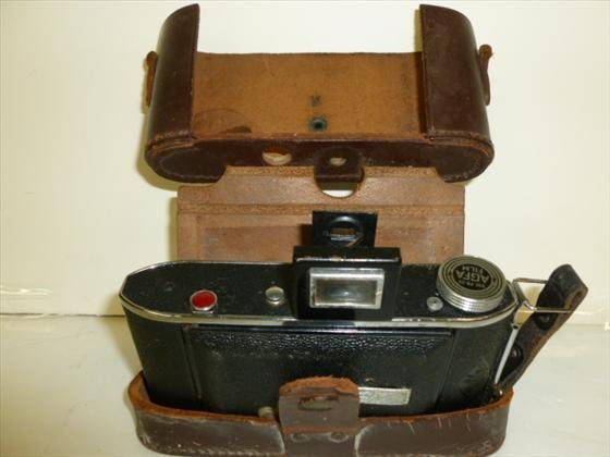Antique AGFA camera in leather case