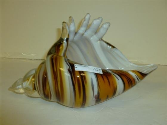 Murano glass sea shell