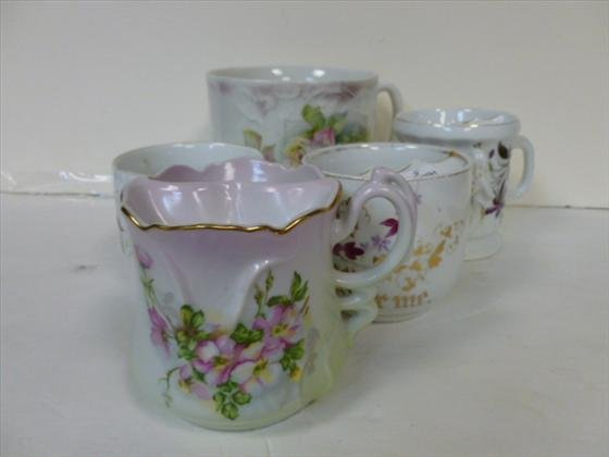 5 pc mustache cups assorted sizes