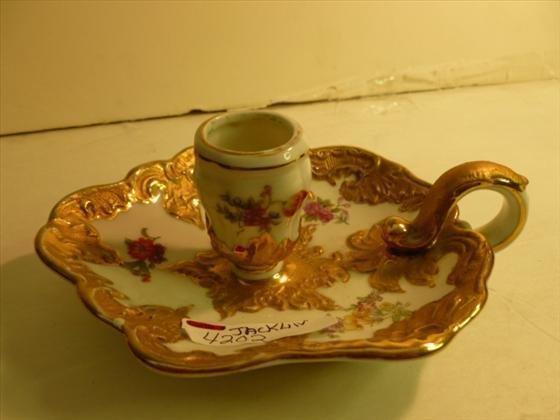 Porcelain single Finger hold candle holder