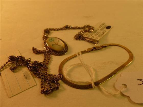 3pc sterling -  2 necklaces & bracelet