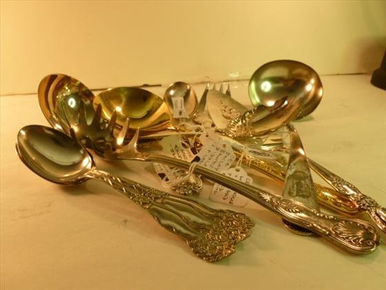 11 piece silver plated serving pieces
