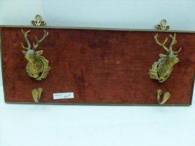 Brass wall rack with dear head