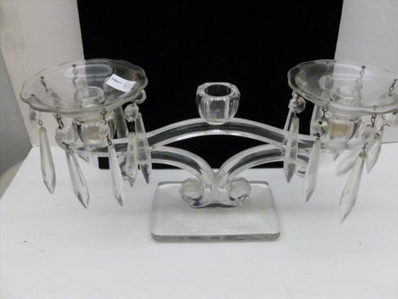 Clear crystal  triple candleholder