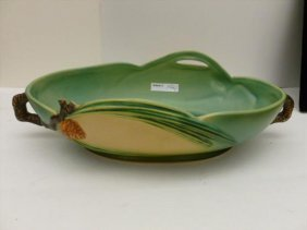 Pinecone console bowl - Roseville Pottery