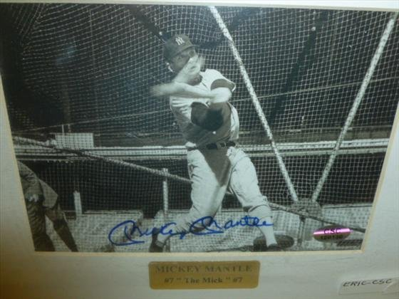 Signed Mickey Mantle Picture