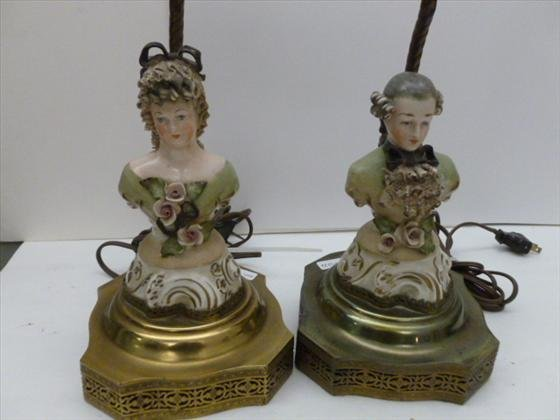 Pair Corday figurine lamps