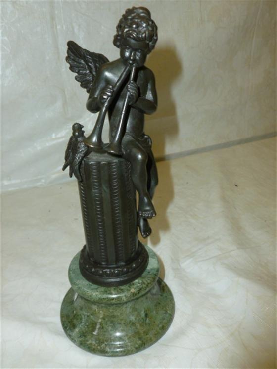 Bronze sculpture angel -birds M Moreau signed