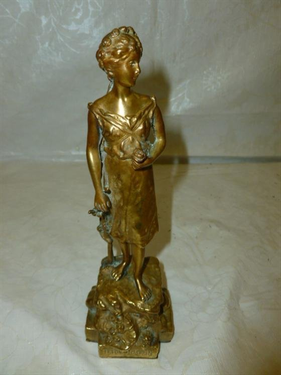Bronze sculpture Besserdich 1900-1920