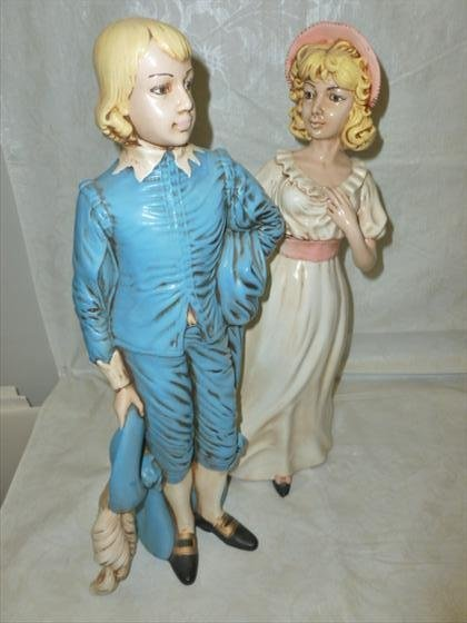 2 pc Blue boy and Pinkie Holland mold figurines