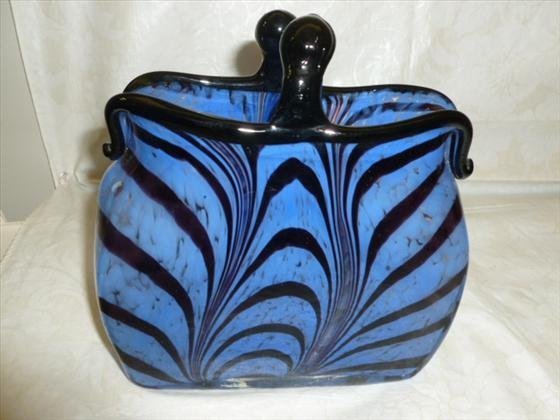 Murano glass pocket book style purse