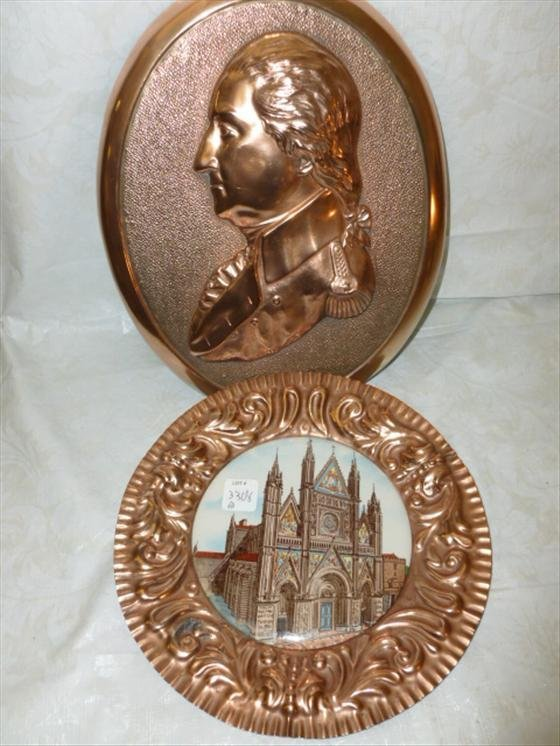 2 copper wall plaques