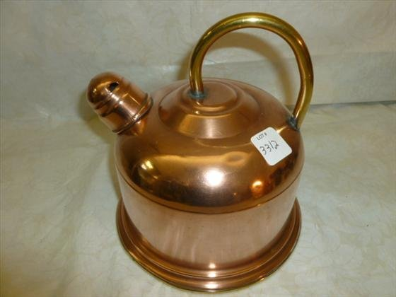 Copper and brass tea kettle no names