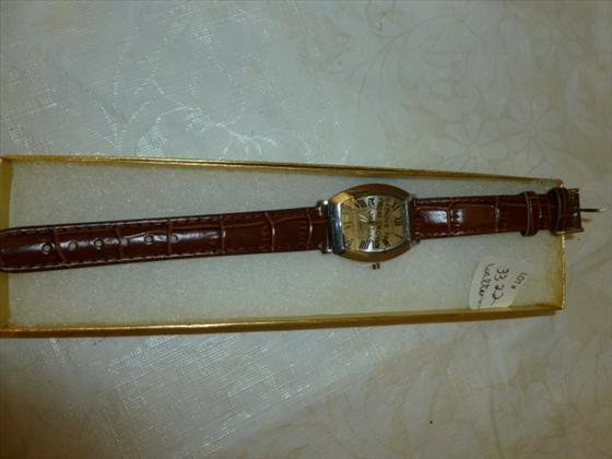 New men's watch leather band in box SKC brand