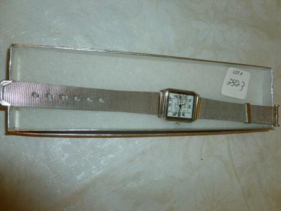 New men's watch silver tone mesh band-SKC brand