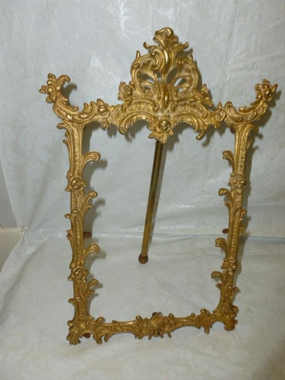 Ornate brass picture frame