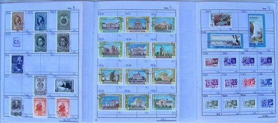 3 partial books of Sowjet - Union Stamps