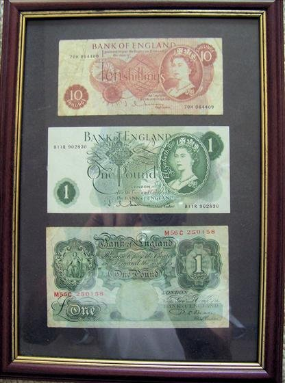 Three Bank of England Notes