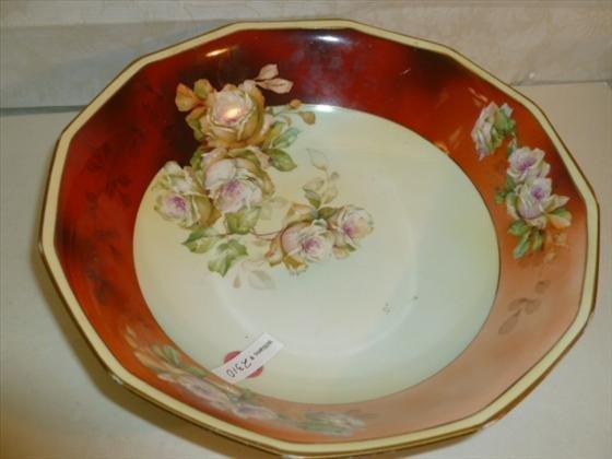 Large hand painted MZ Austria bowl