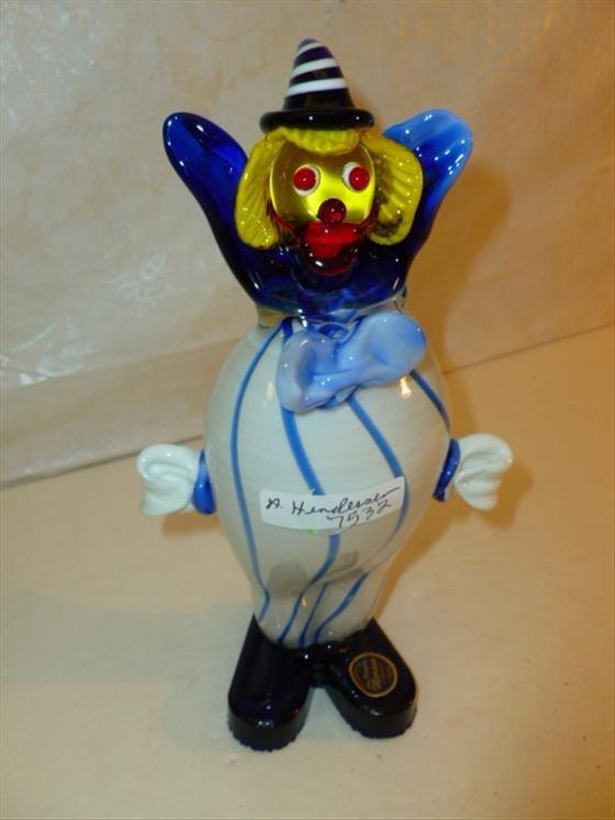 Murano glass clown figure