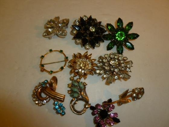 Assorted lot of 10 pins-brooches