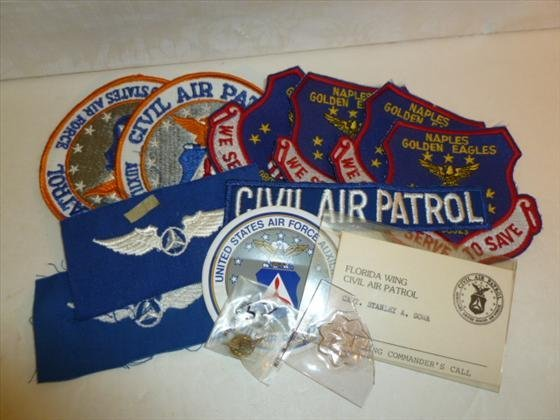 Bag lot of 12 pieces civil air patrol patches-wings pin