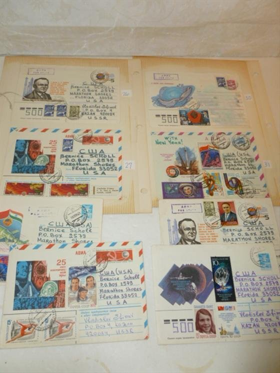 8 stamped envelopes-to Berrnice Scholl of Dr. Scholl in