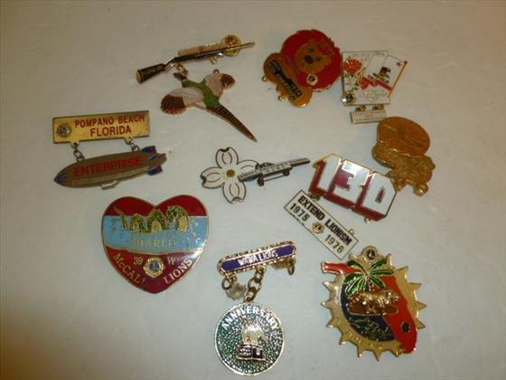 Bag lot of 10 Lions club pins