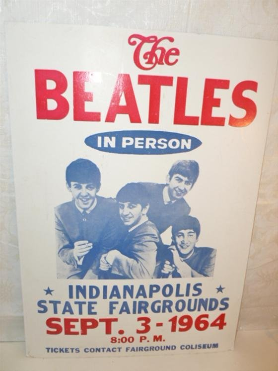 Beatles Poster- Indianapolis State fair grounds