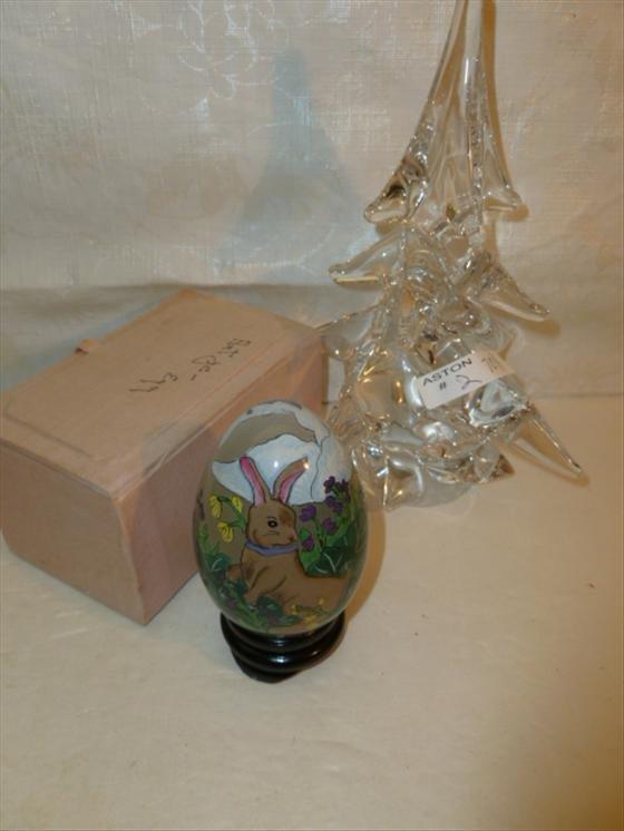 "2 pc crystal Christmas tree 7 3/4"""