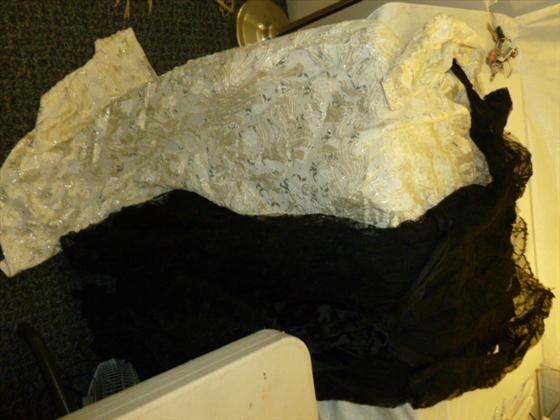 2 evening dresses hand made for Frances Brewster