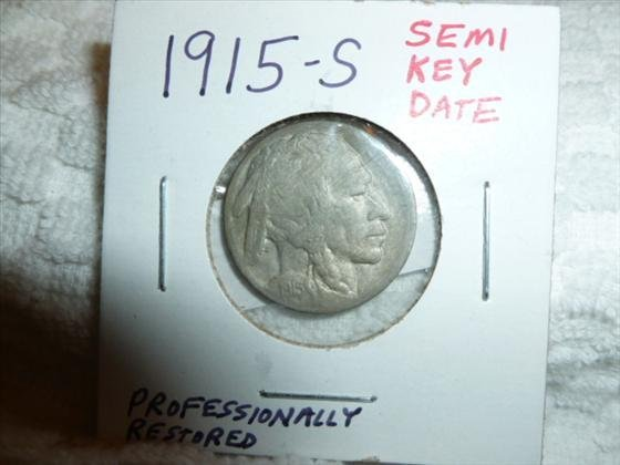 1915-S- Buffalo nickel- Semi Key Date- Professionally r