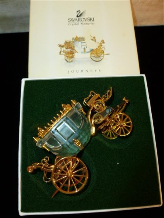 Swarovski crystal memories Journeys-Carriage with gold