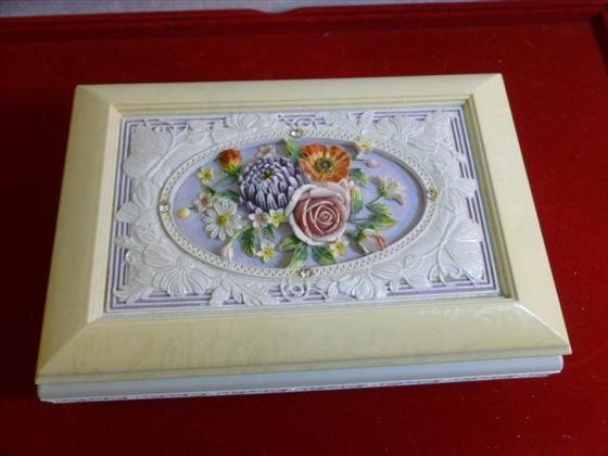Music box -Waltz of the flowers- oblong silver tone fee
