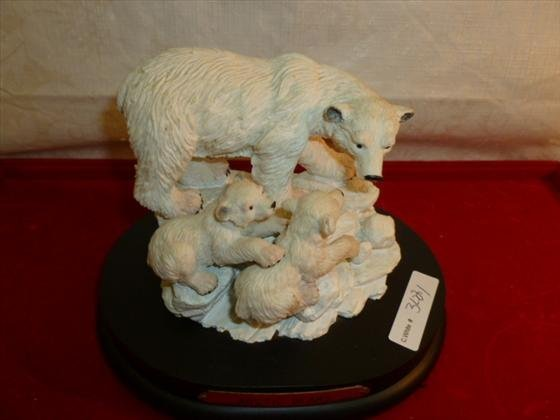 Cold cast musical sculpture limited Families wild colle