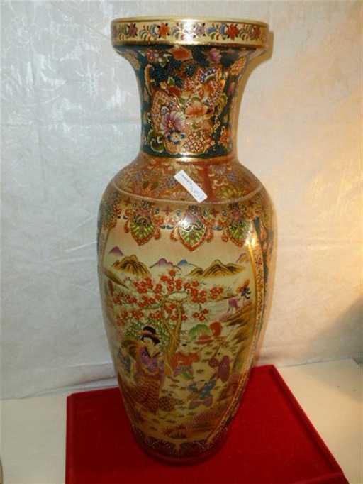 Large Satsuma Style Made In China Floor Vase 24 12 Ta