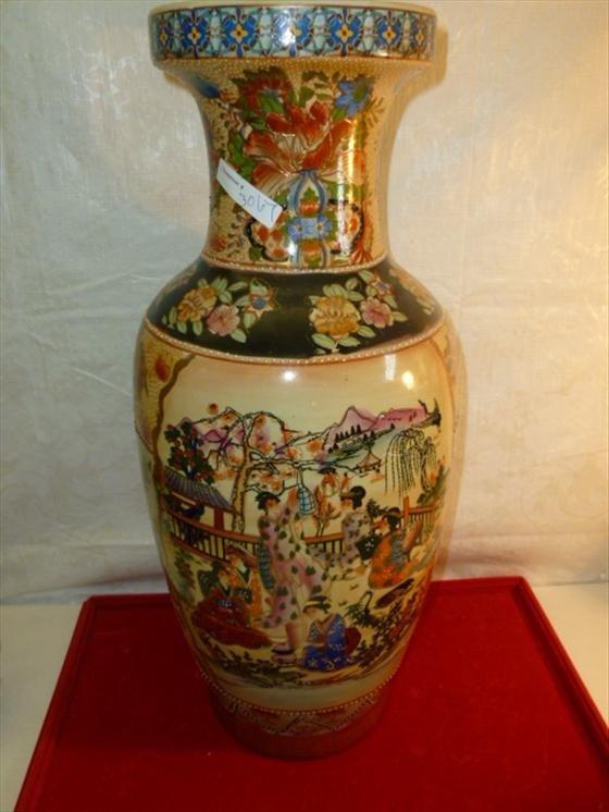 Large floor vase made in China-marked on bottom Satsuma