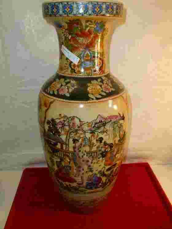Large Floor Vase Made In China Marked On Bottom Satsuma
