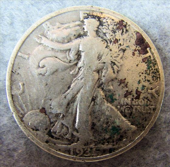 1935 Liberty Walking Silver Half Dollar