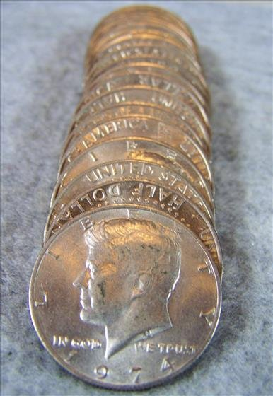 Roll Clad Kennedy Half Dollars