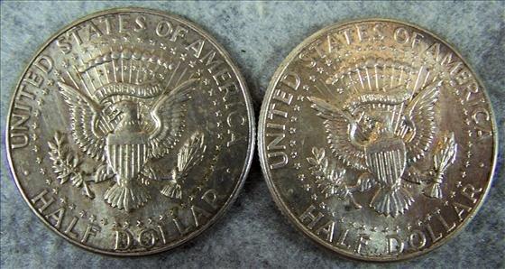 Two 1964 Kennedy Silver Half Dollars - 2