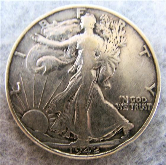 1942 Liberty Walking Silver Half Dollar